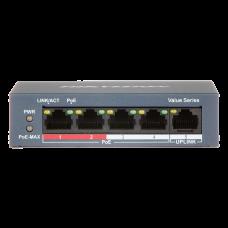 POE комутатор Hikvision DS-3E0105P-E/M