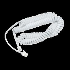 Білий кручений шнур серії D7xx для телефонів Snom